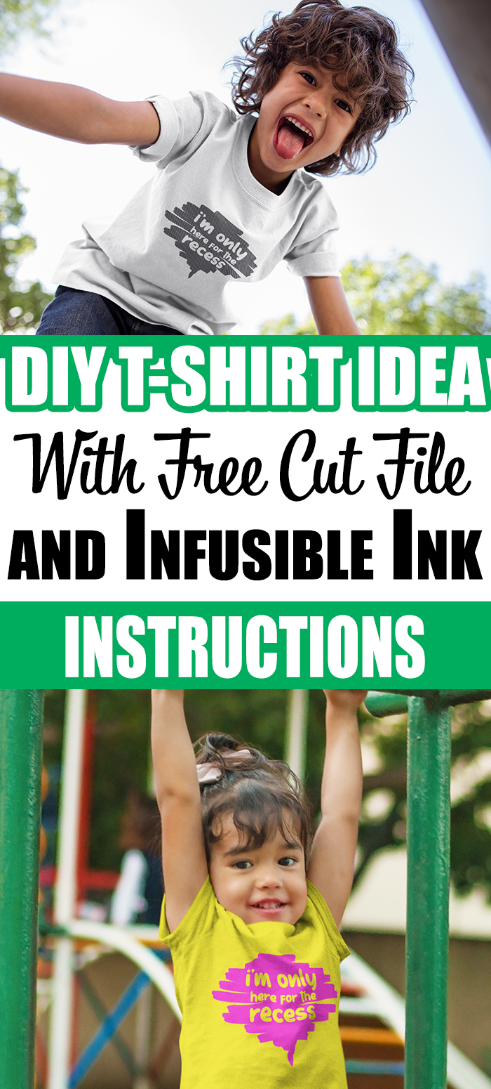 DIY T-Shirt Idea With Free Cut File and Infusible Ink Instructions #diy #cricut #tshirt