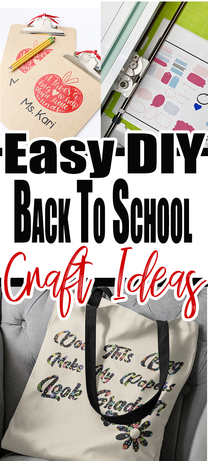 If you are looking for back to school crafts that you can make with your Cricut, I have got you covered! This list covers everything! #backtoschoolcrafts #cricutcrafts #cricutprojects