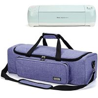 Carrying Case with Large Pocket, Compatible with Cricut Explore Air 2, Cricut Maker, Silhouette CAMEO3, Purple