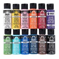 FolkArt 12 Piece Outdoor Rock Paint Set, 2 oz