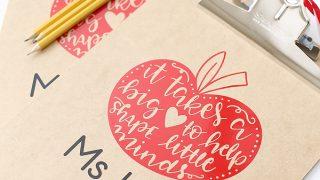 Craft: DIY Vinyl Clipboard Teacher Gift Idea - See Vanessa Craft