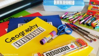 Easy DIY Back to School Labels Made with a Cricut