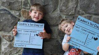 How to Make a Reversible First Day of School Sign with Chalkboard Paint