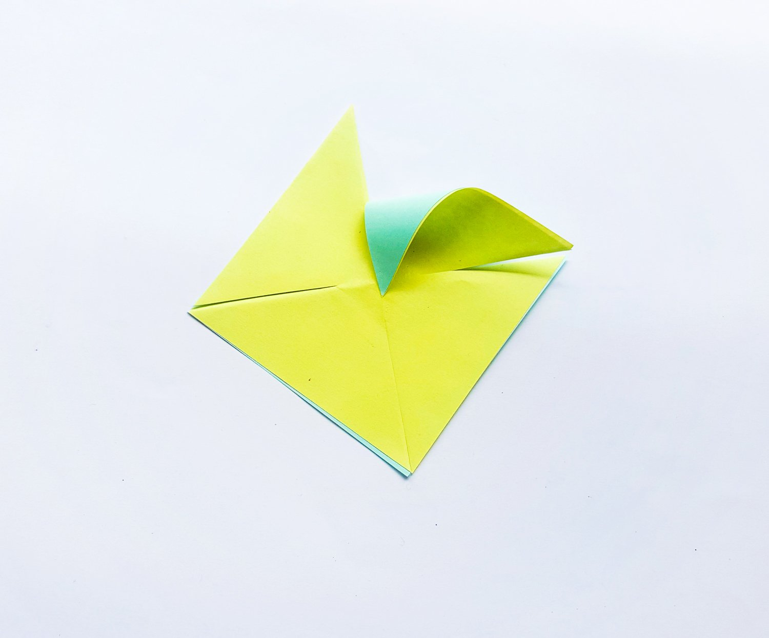 yellow and teal and pink paper for pinwheel
