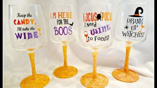 Learn How to Make Glitter Wine Glasses!