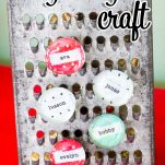 Super easy and adorable craft magnets are great for all occasions. #craftmagnets #DIY #DIYgifts #easy #fun