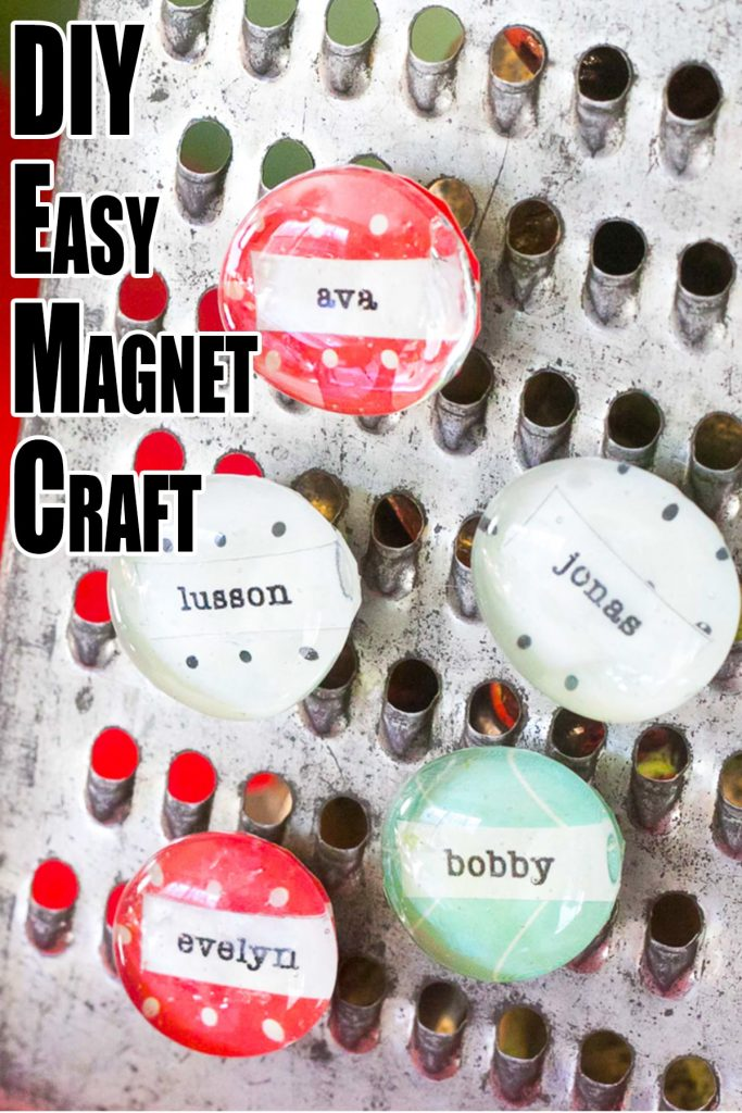 craft magnets with names on them
