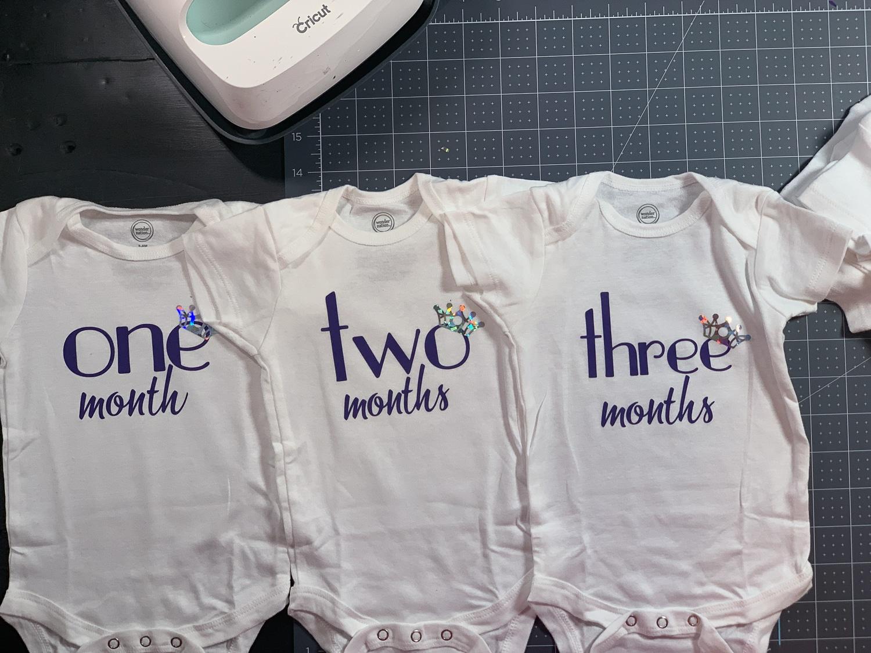 infant milestones by month onesies