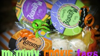 Halloween Craft Ideas: How to Make Mummy Cookies (Free Halloween Printable)