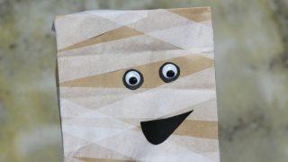 Paper Bag Mummy Puppet Craft for Kids