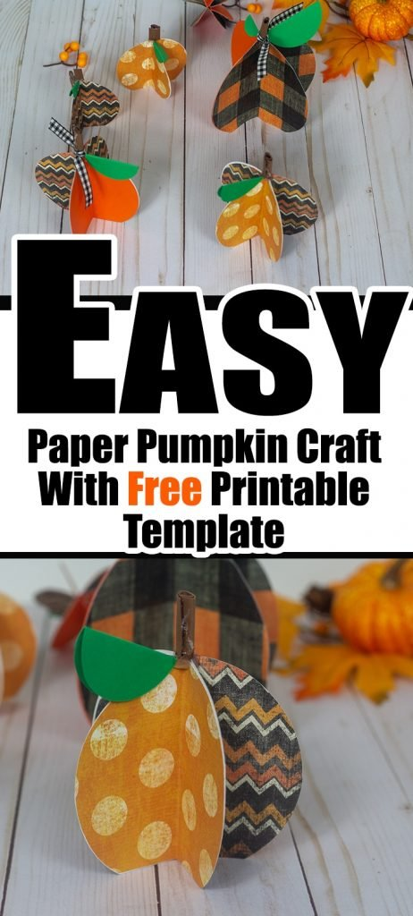 Easy Paper Pumpkin Craft with Cricut