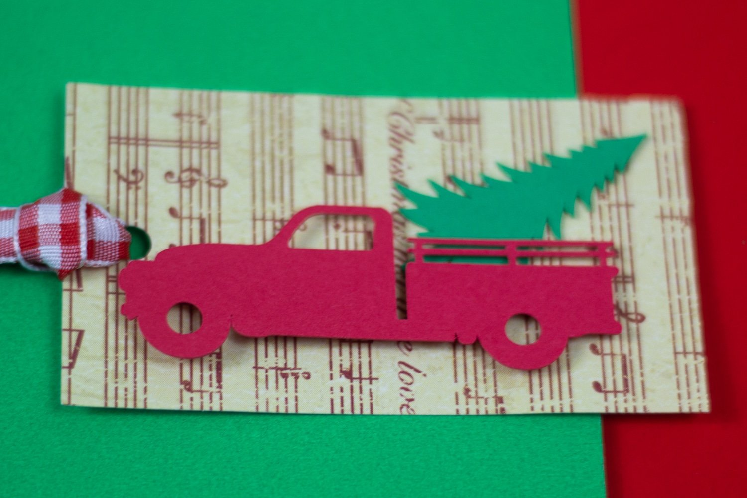 Let's talk about how cool my presents are going to be under the tree this year with these easy Red Truck Christmas Tags. And the kids loved helping make them!