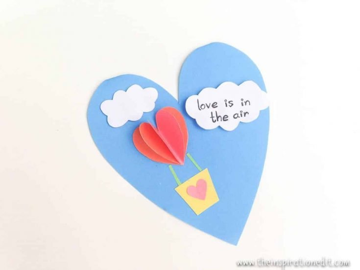Hot Air Balloon Craft A Valentines Day Kids Craft