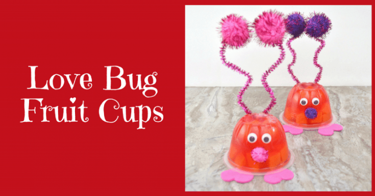 Love Bug Valentine Fruit Cups for Kids