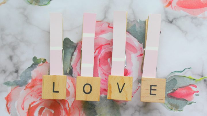 Clothes Pin Valentine's Day Craft Idea