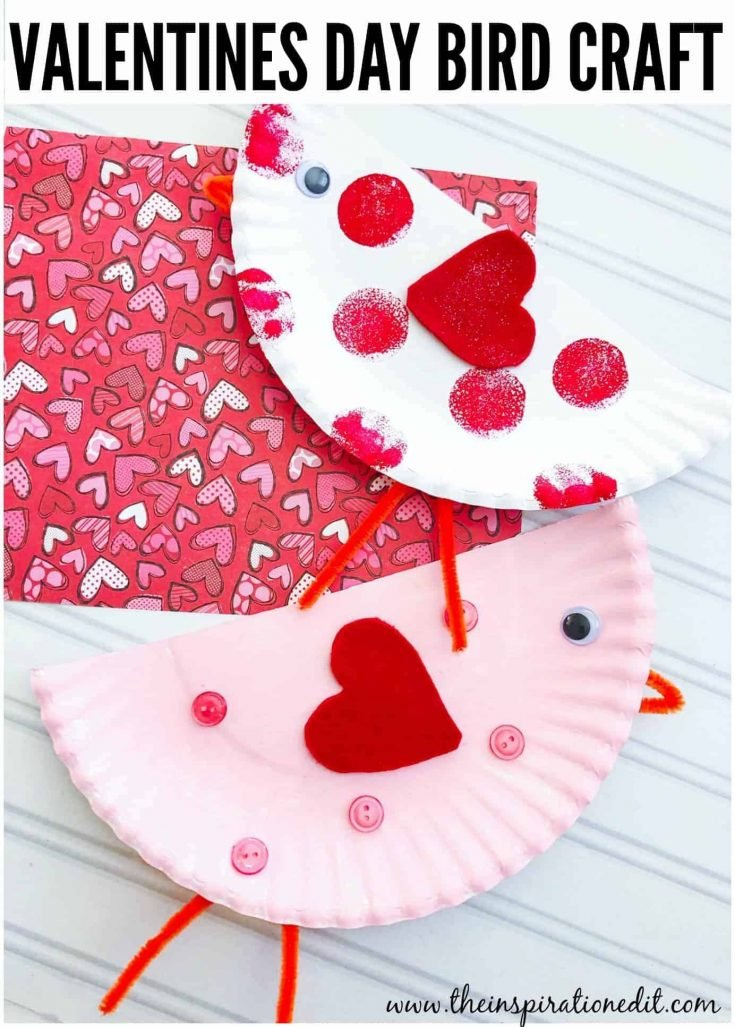 Paper Plate Valentines Craft Cute Bird