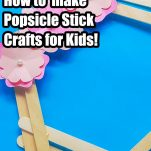 easy craft stick project for kids for spring with text which reads spring wreath how to make popsicle stick crafts for kids!