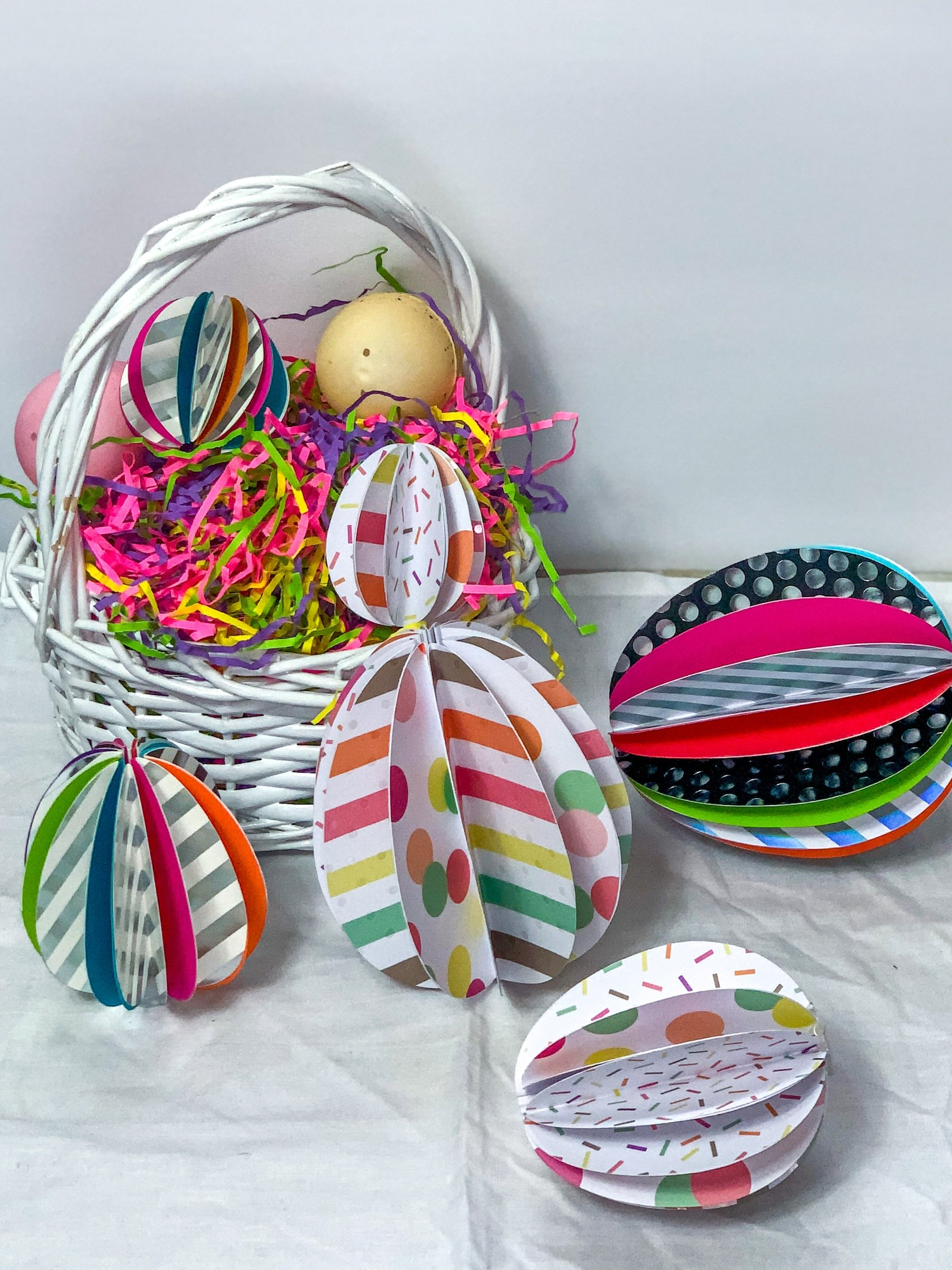 eggs made from paper
