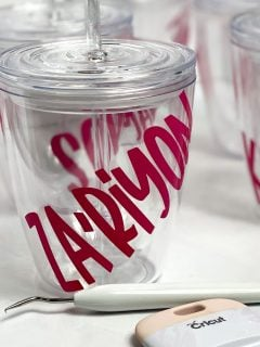 how to make personalized cups for kids with vinyl