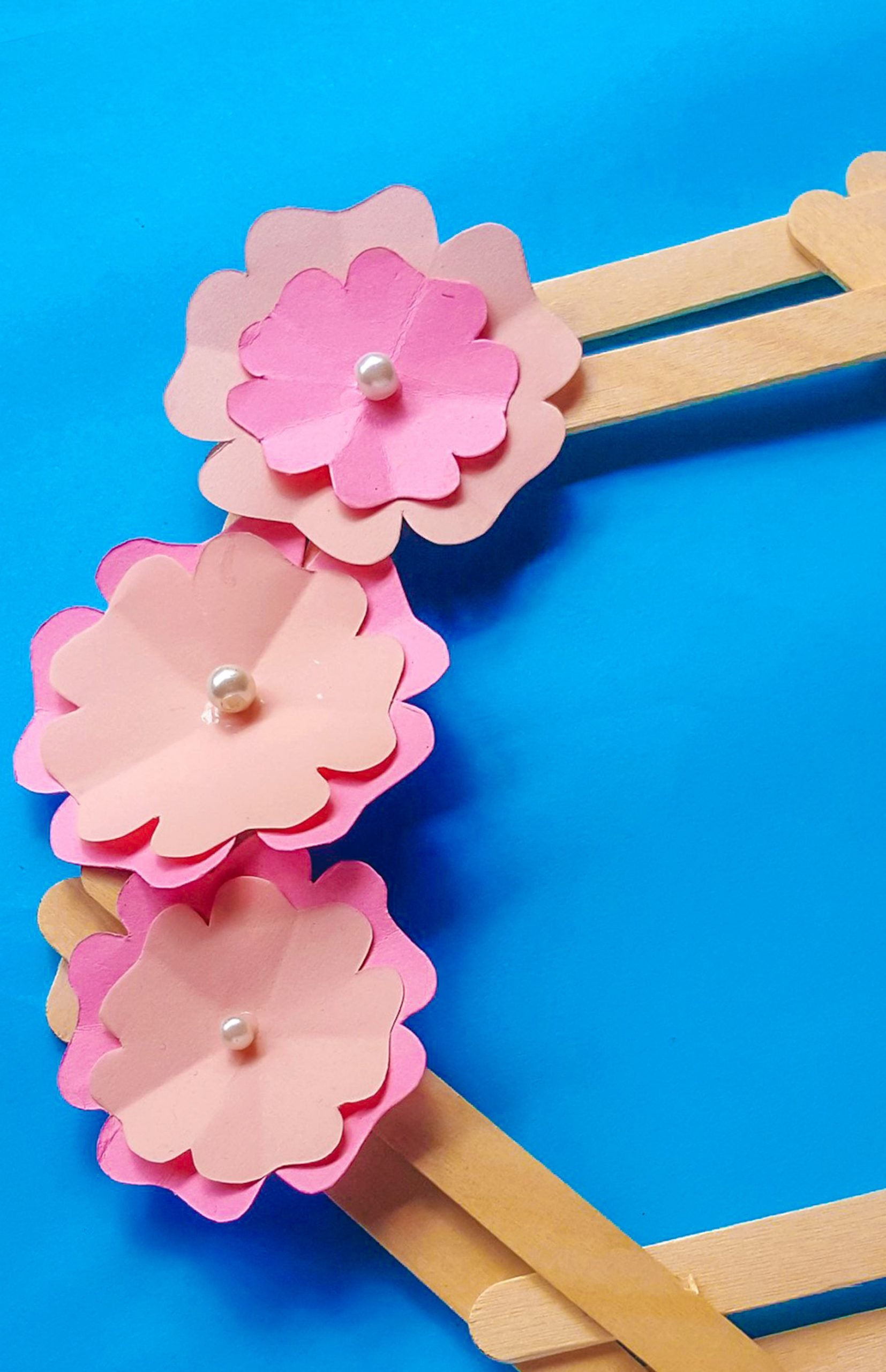 wreath popsicle stick kids crafts for spring