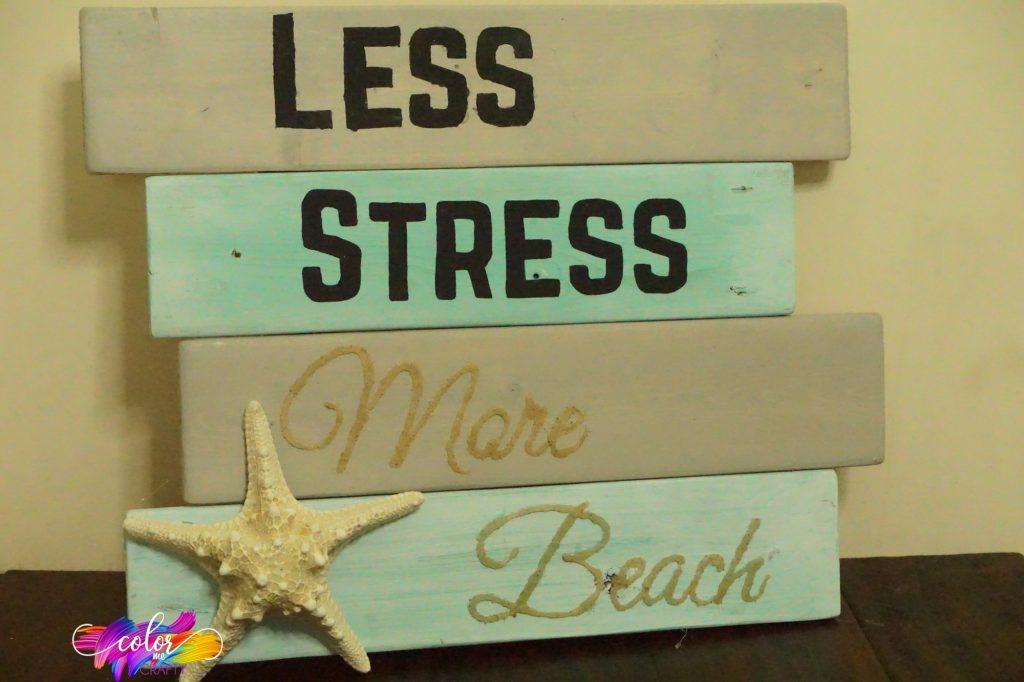 How to Make a Beachy Farmhouse Sign