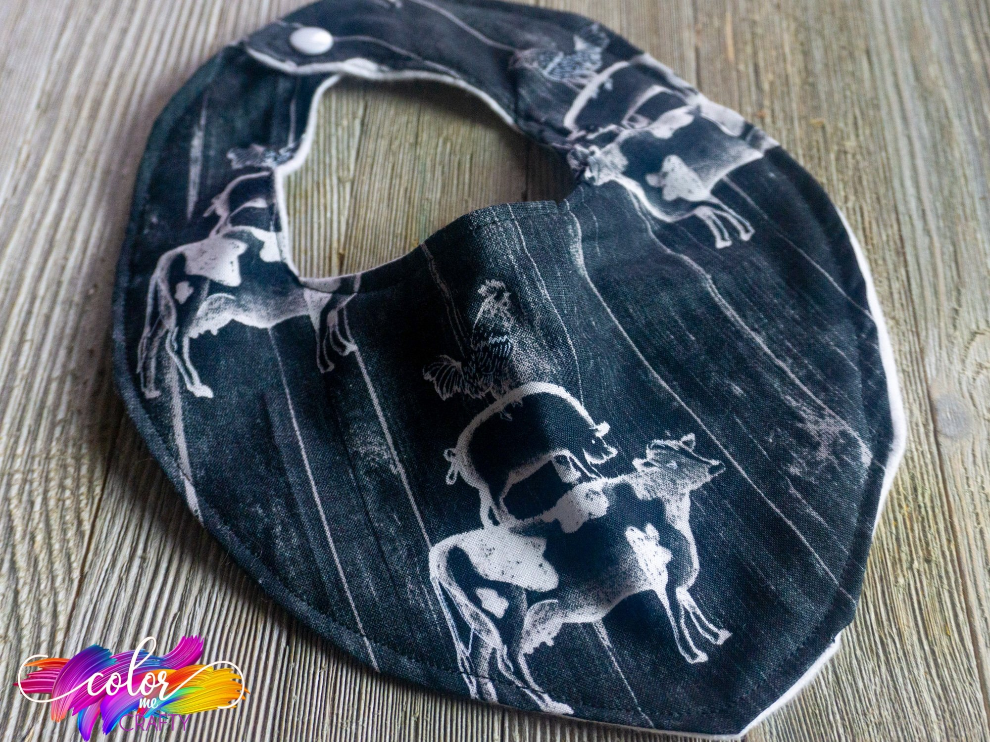 how to make a baby bib from a bandana