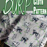 easy burp cloth diy idea with text which reads cricut burp cloth pattern
