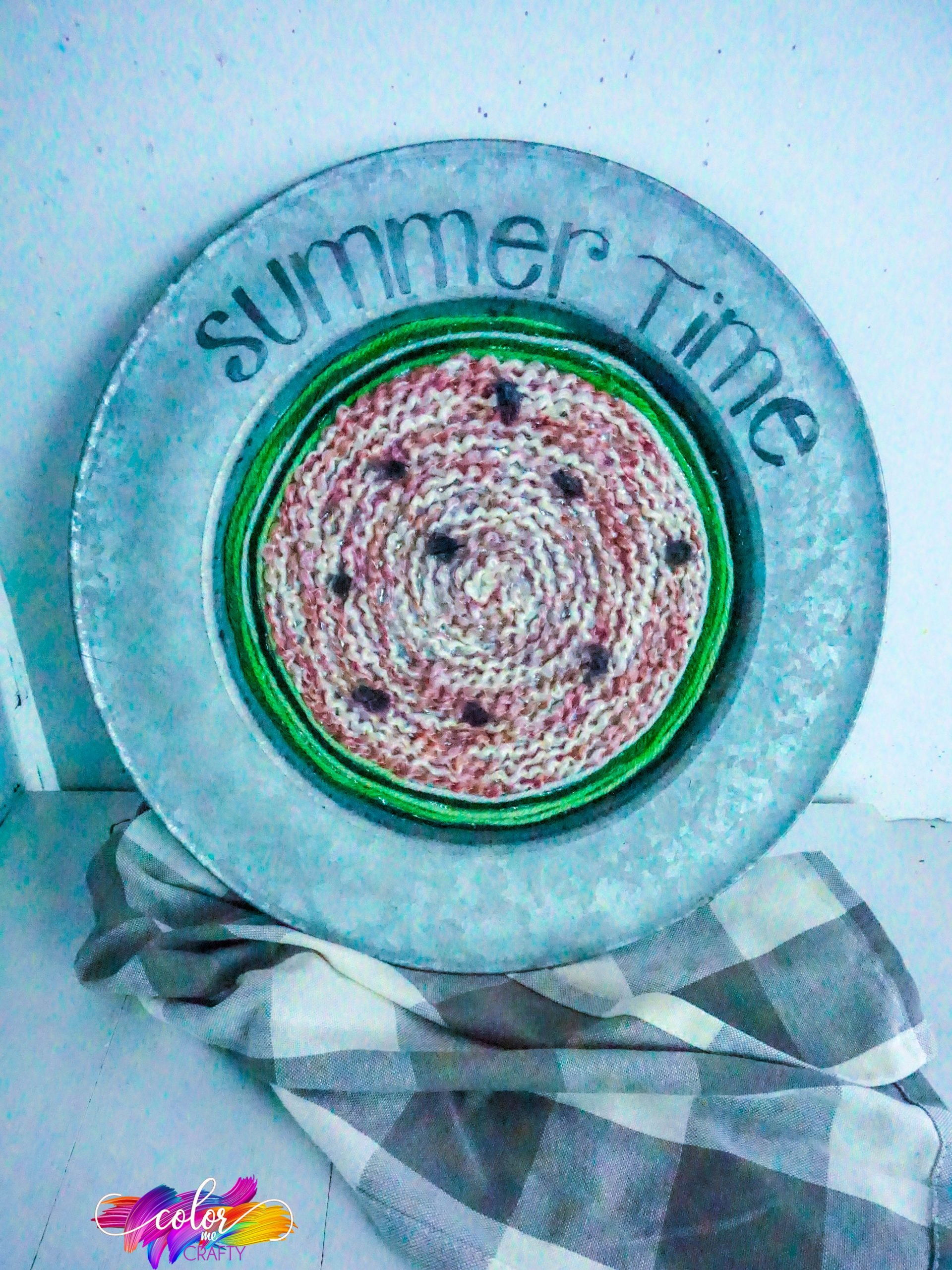 how to make a watermelon decorative plate craft
