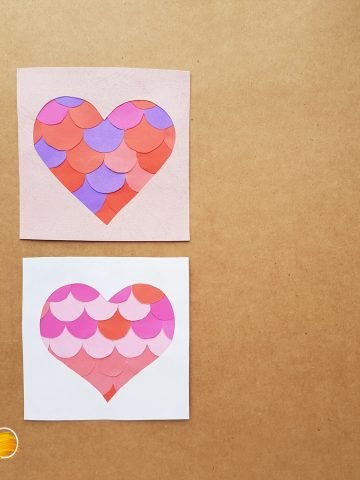 easy heart kids paper craft
