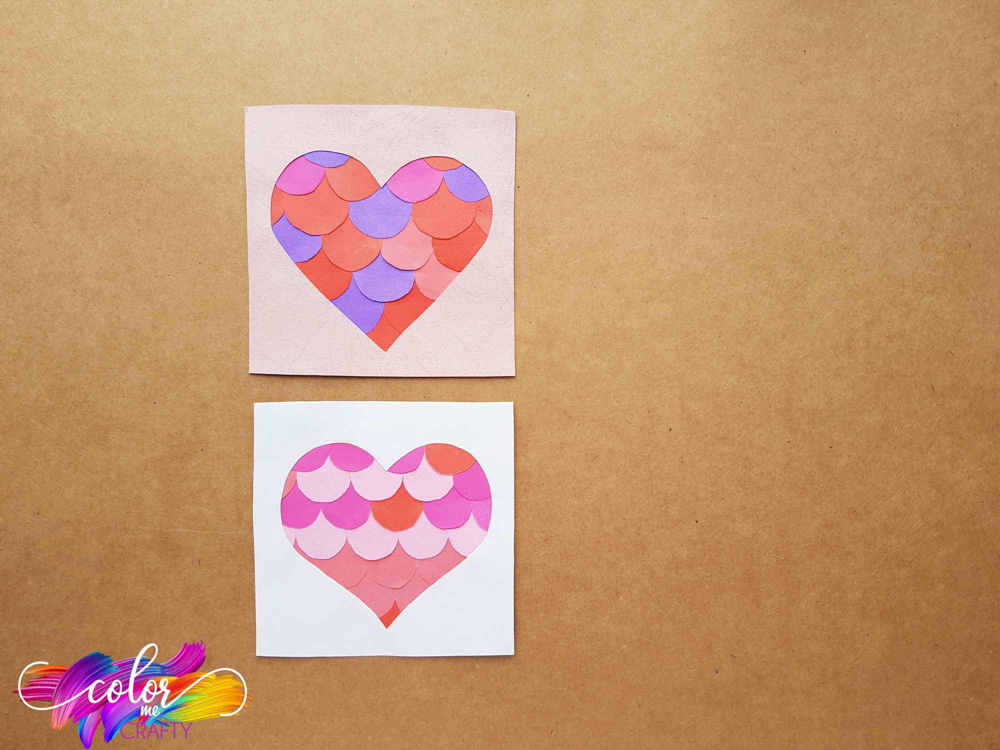 easy heart kids paper craft