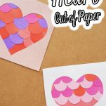 simple way to make a paper heart with text which reads how to make a heart out of paper