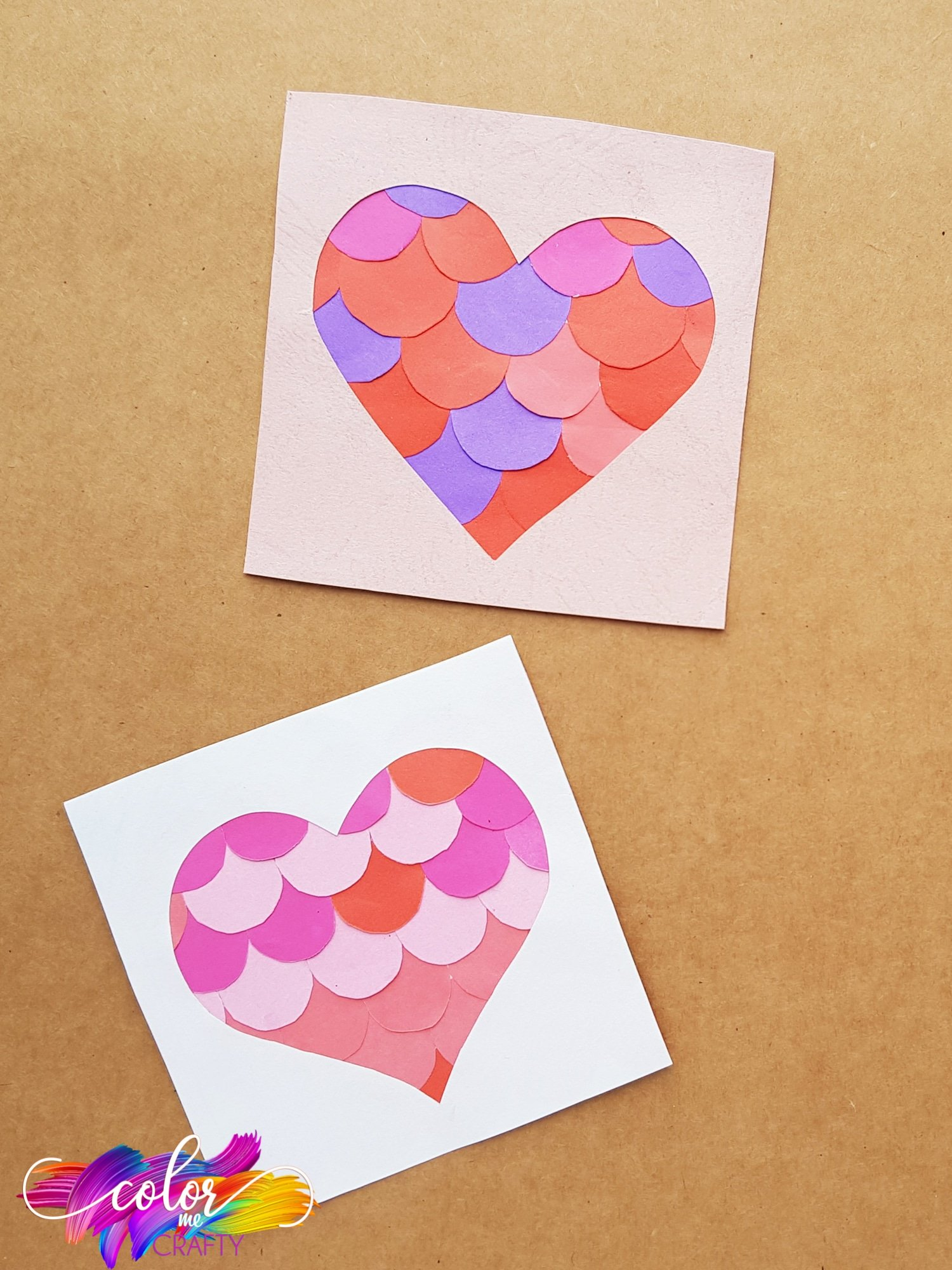 how to make a fun paper heart craft with kids