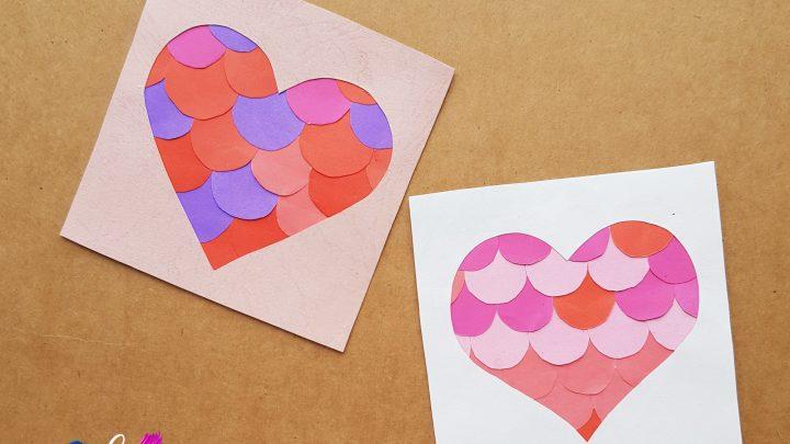 kids paper heart craft idea