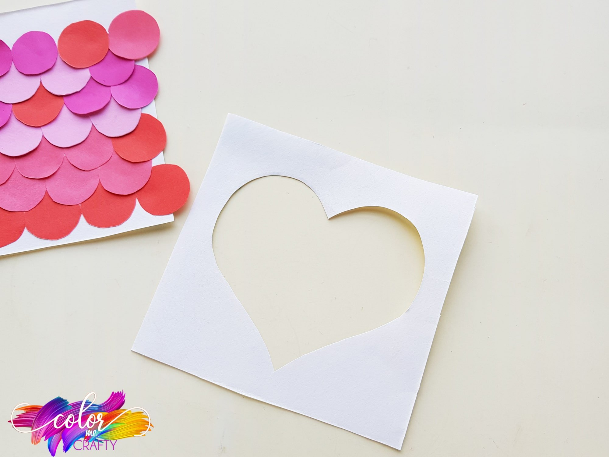 how to make a paper heart craft
