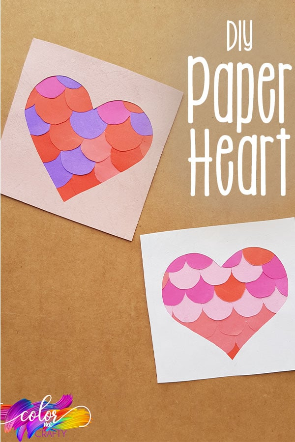 easy way to make a paper heart with text which reads diy paper heart