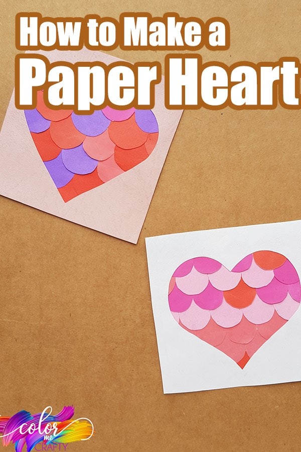 easy paper heart craft with text which reads how to make a paper heart