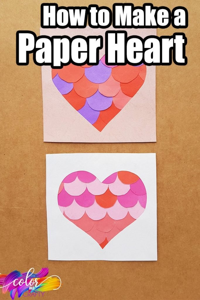 easy heart paper craft with text which reads how to make a paper heart