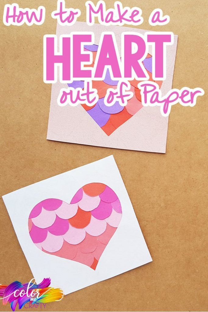 easy heart from paper with text which reads how to make a heart out of paper