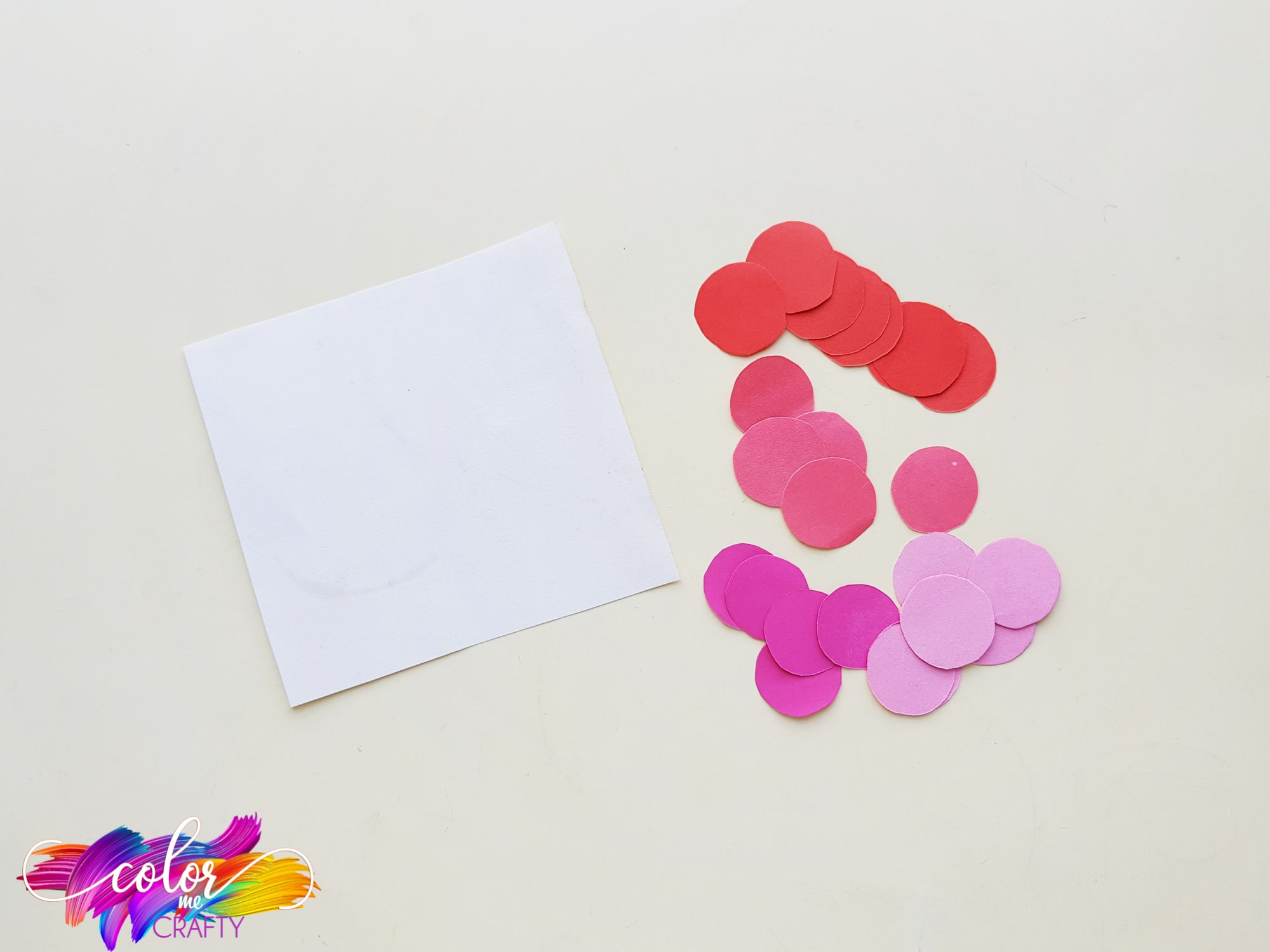 supplies for easy paper heart project
