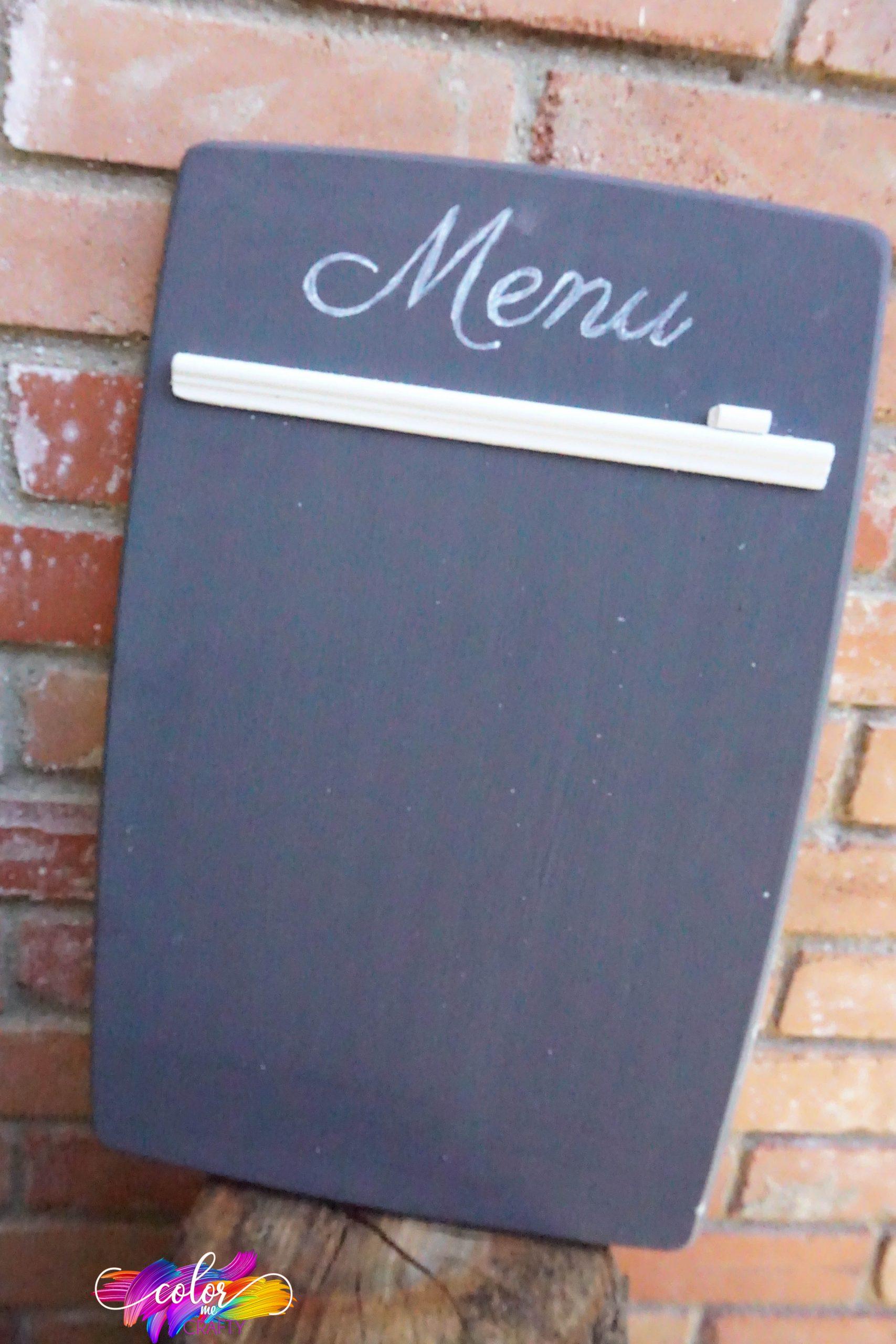 easy chalkboard upcycle idea