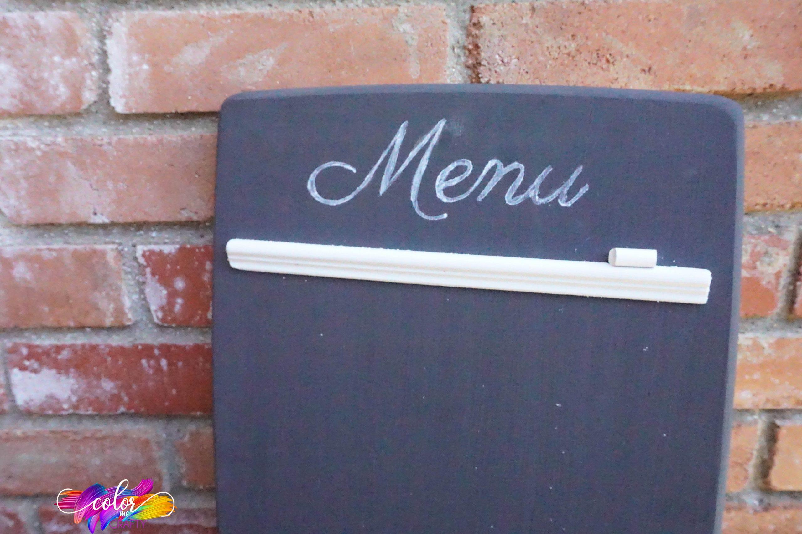 simple diy chalkboard menu board project