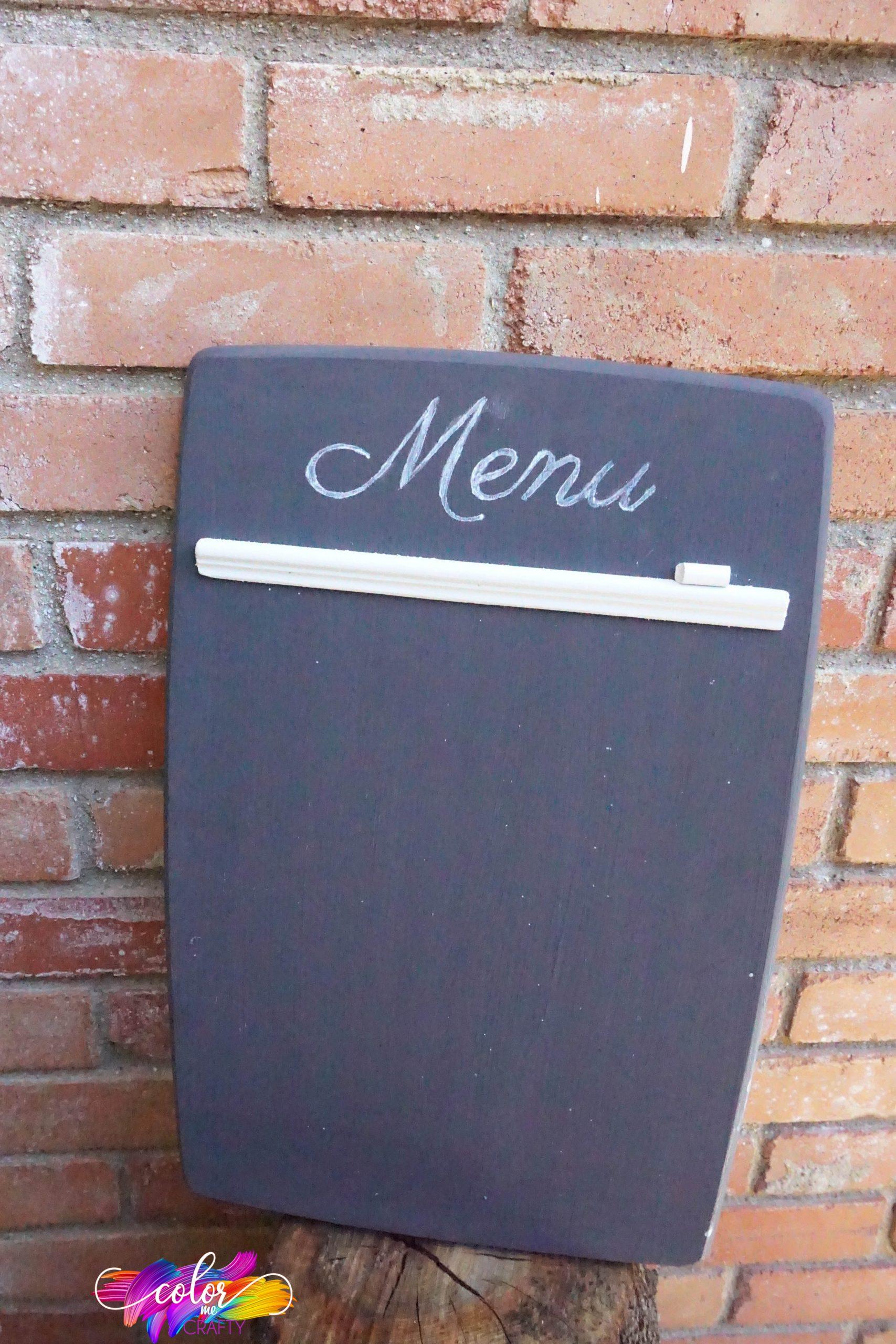 menu board diy idea