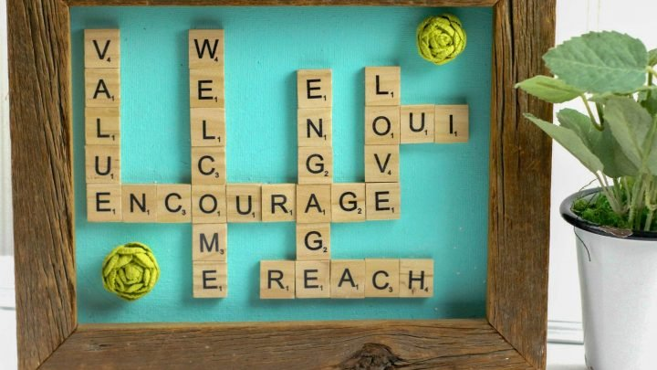 How To Make A Repurposed Scrabble Tiles Word Wall Art