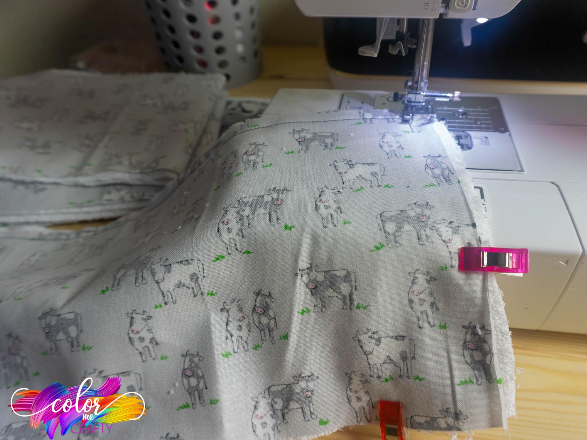 sewing a diy burp cloth baby gift