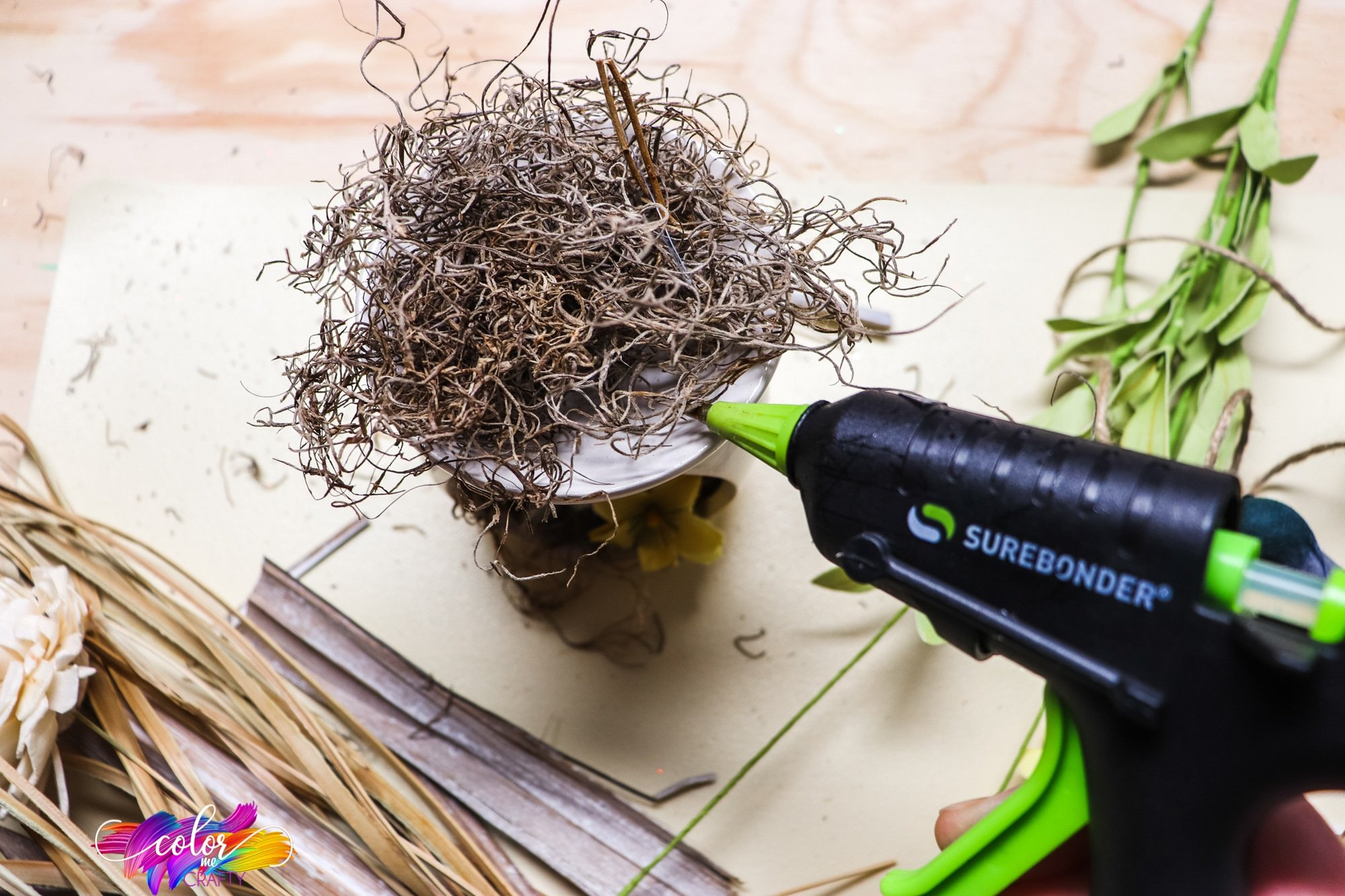how to make a bird nest with craft supplies