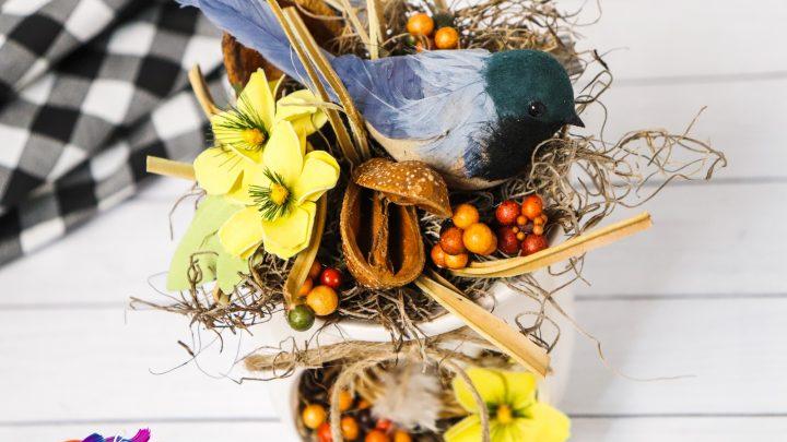 Farmhouse Birds Nest Centerpiece