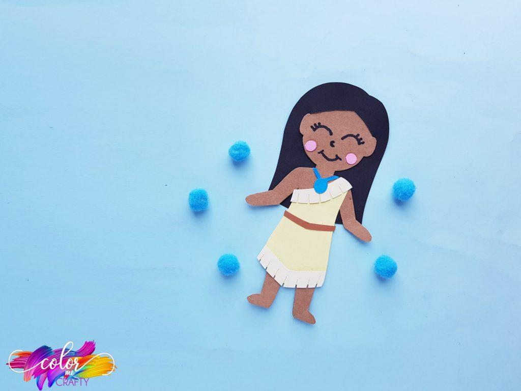 Pocahontas with blue poms