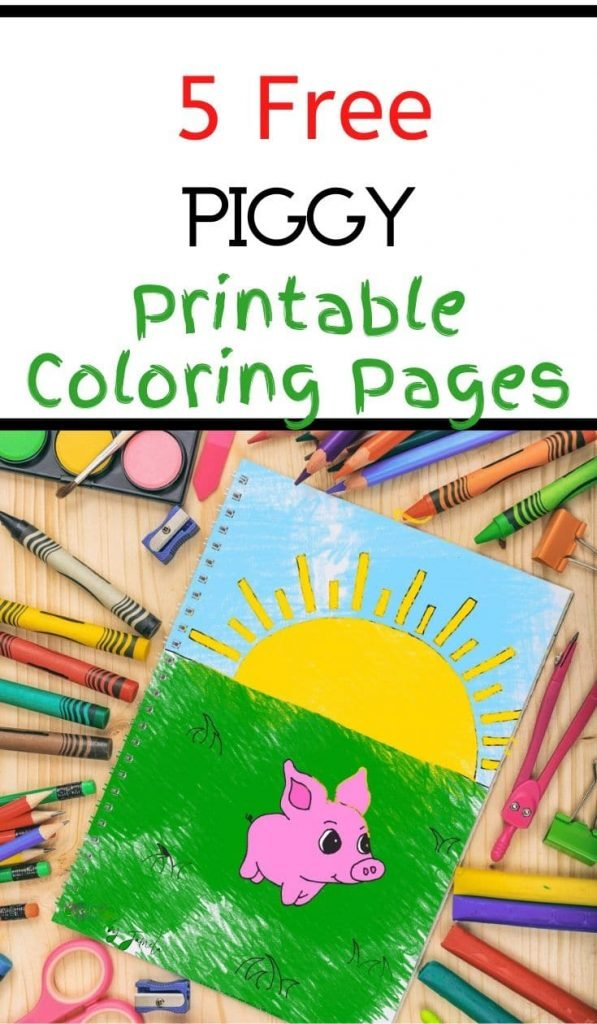 pinterest image for pig printable
