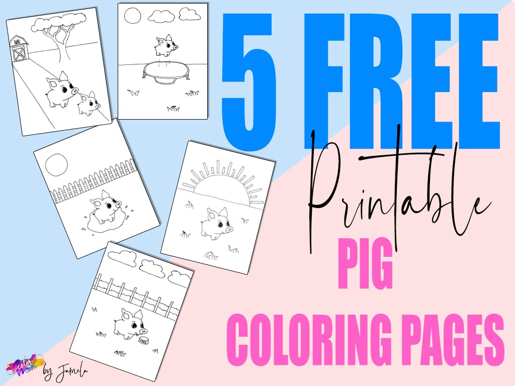 graphic for printable pig coloring pages