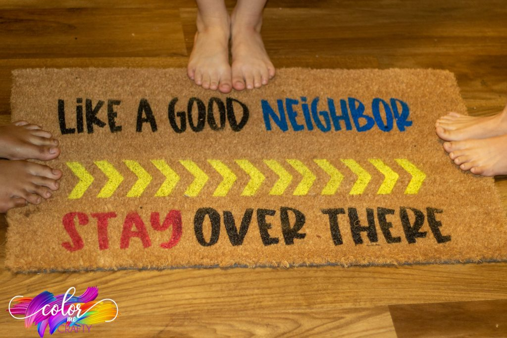 "coir mat ""like a good neighbor stay over there"""